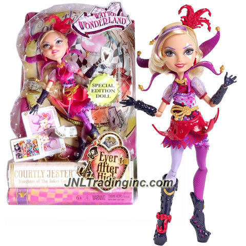 Mattel Year 2015 Ever After High Special Edition Series 11 Inch Doll Set - Daughter of the Joker Card COURTLY JESTER (DHD78) with Story Card