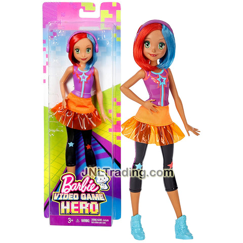 Mattel Year 2016 Barbie Video Game Hero Series 12 Inch Doll - GAIA DTW05 with Headphones and Blue Shoes