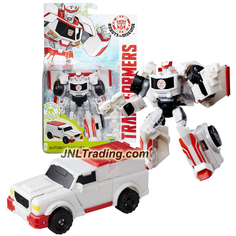"Hasbro Year 2015 Transformers Robots in Disguise Animation Warrior Class 5-1/2"" Tall Figure - AUTOBOT RATCHET with Blasters (Vehicle: SUV)"
