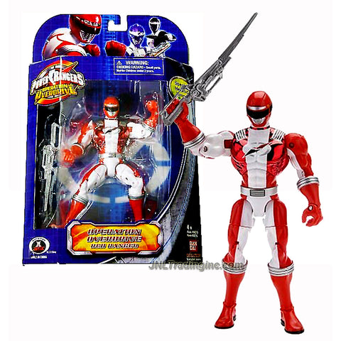 "Bandai Power Rangers Operation Overdrive Series 7"" Tall Figure - Special Metallic Armor RED RANGER with Sword"