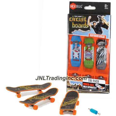 Hexbug Year 2014 Tony Hawk Circuit Boards 3 Pack Set - Ben Raybourn Cat (002-BH), Party Animals (004-BH) and Iron Hawk