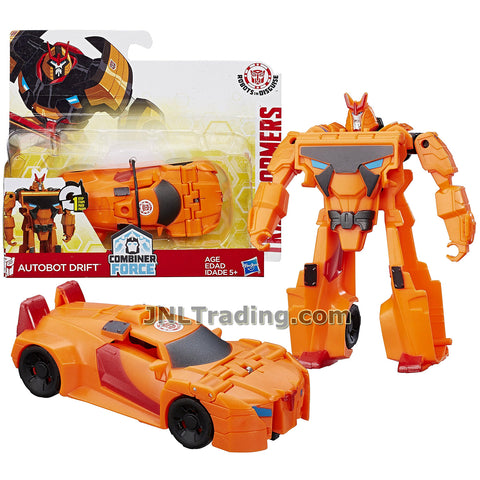 Transformers Year 2016 Transformers Robots In Disguise Combiner Force 1 Step Changer 5 Inch Tall Figure - AUTOBOT DRIFT (Vehicle Mode: Sports Car)