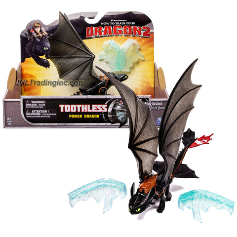 "Spin Master Year 2014 Dreamworks ""How to Train Your Dragon 2"" Series 9 Inch Long Figure - Power Dragon TOOTHLESS with Ice Fling Action"