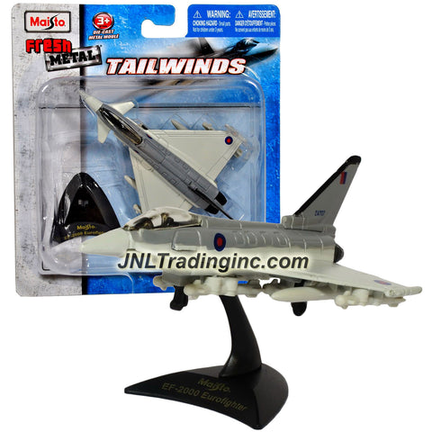 Maisto Fresh Metal Tailwinds 1:132 Scale Die Cast Military Aircraft : British Multirole Aircraft EF-2000 Eurofighter with Display Base