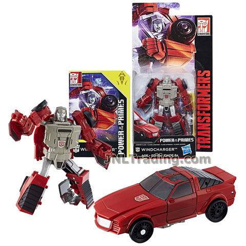 Transformers Year 2017 Generations Power of the Primes Series Legends Class 4 Inch Tall Figure - WINDCHARGER with Collector Card (Vehicle: Sports Car)