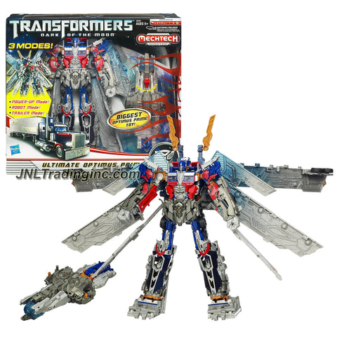 "Hasbro Year 2011 Transformers Movie Series 3 ""Dark of the Moon"" Ultimate Class 12 Inch Tall Robot Action Figure - OPTIMUS PRIME with 3 Modes (Power-Up Mode, Robot Mode and Trailer Mode)and Ultimax Super Cannon with Blasting Battle Sound and Glowing Light"