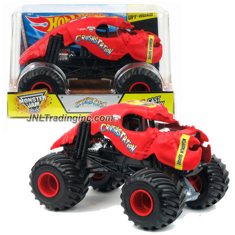 "Product Features Die cast Metal and Plastic Parts Realistic Details with Monster Tires and Working Suspension 1:24 Scale (Dimension : 7"" L x 5-1/2"" W x 4-1/2"" H) Produced in year 2015 For age 3 and up Product Description Hot Wheels Year 2015 Monster Jam 1:24 Scale Die Cast Metal Body Off-Road Series #CGD66 - McLaughlin Seafood CRUSHSTATION with Monster Tires & Working Suspension (Dimension : 7""L x 5-1/2""W x 4-1/2""H)"
