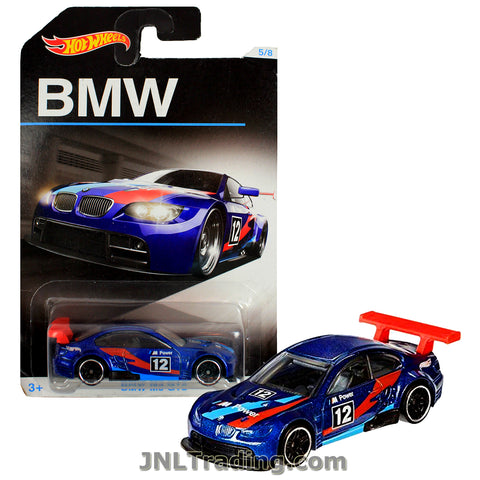 Hot Wheels Year 2015 BMW Series 1:64 Scale Die Cast Car Set 5/8 - Blue Color Roadster BMW M3 GT2 DJM84