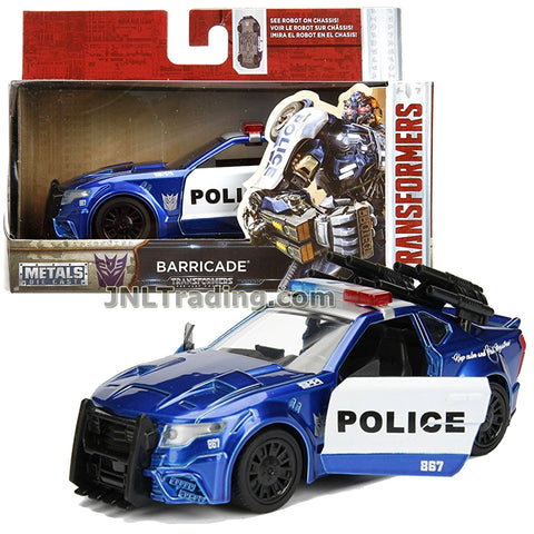 Jada Year 2017 Transformers The Last Knight Series 1:32 Scale Die Cast Metal Cars - BARRICADE (Police Cruiser) with Opening Doors