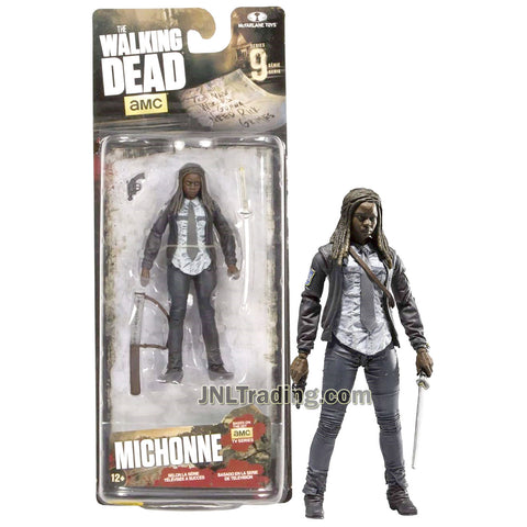 Year 2016 AMC TV Series Walking Dead 4-1/2 Inch Tall Figure - MICHONNE with Samurai Sword, Sheath and Gun