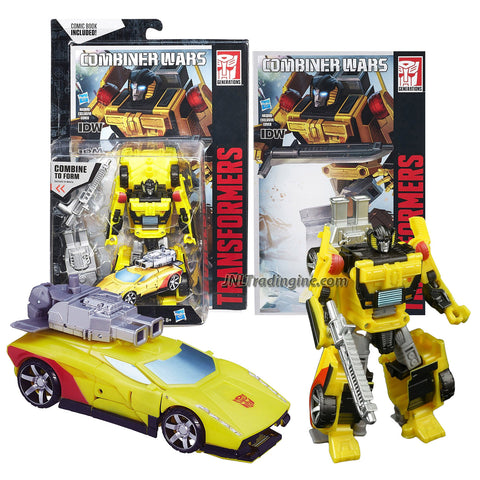 Hasbro Year 2015 Transformers Generations Combiner Wars Series 5-1/2 Inch Tall Robot Figure - Autobot SUNSTREAKER with Sword, Optimus Maximus' Right Arm and Comic Book (Vehicle Mode: Sports Car)