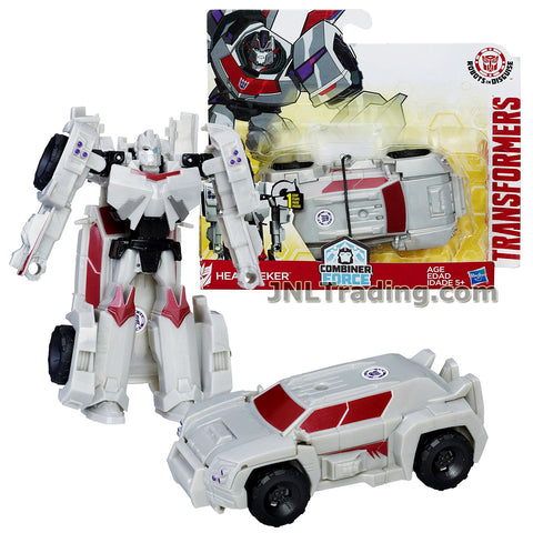 Transformers Year 2016 Transformers Robots In Disguise Combiner Force 1 Step Changer 5 Inch Tall Figure - HEATSEEKER (Vehicle Mode: SUV)