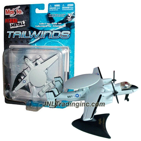 Maisto Fresh Metal Tailwinds 1:170 Scale Die Cast Military Aircraft - US Carrier-Based Tactical Airborne Early Warning E-2C Hawkeye with Display Base
