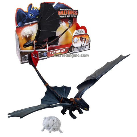 "Spin Master Year 2013 Dreamworks Movie Series ""DRAGONS - Defenders of Berk"" 10 Inch Long Dragon Figure - Night Fury TOOTHLESS with Wing Flap and Catapult Tail Action"