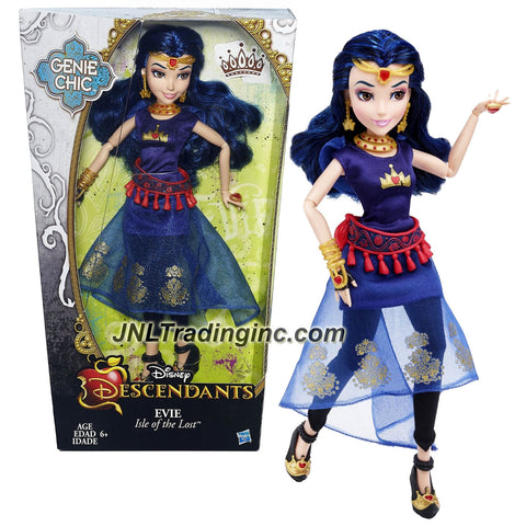 Hasbro Year 2015 Disney Descendants Genie Chic Series 12 Inch Doll - Isle of the Lost EVIE with Earrings and Choker Necklace
