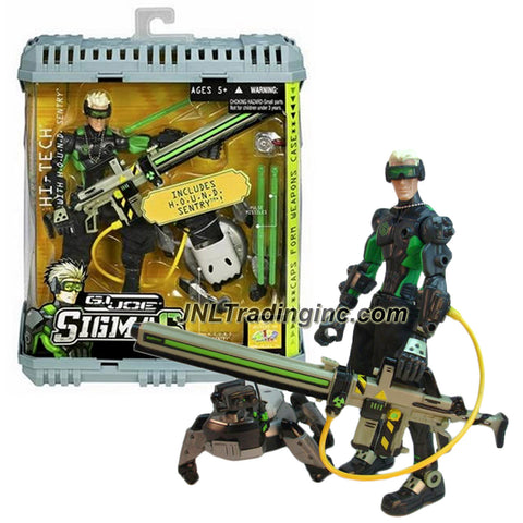 Hasbro Year 2006 G.I. JOE Sigma 6 Classified Series 8 Inch Tall Action Figure - HI-TECH with H.O.U.N.D. Sentry, SCARR Blaster, 3 Pulse Missiles and Weapons Case