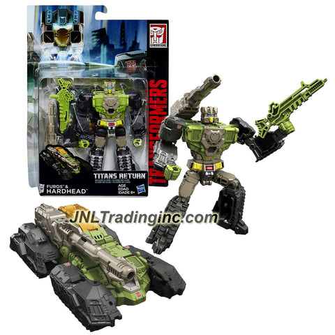 Hasbro Year 2015 Transformers Titans Return Series 5-1/2 Inch Tall Robot Figure - FUROS & HARDHEAD with Blaster, Shoulder Cannon & Card (Vehicle: Tank)