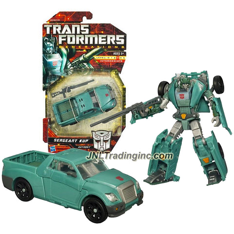 Hasbro Year 2010 Transformers Generations Series Deluxe Class 6 Inch Tall Robot Action Figure - Autobot SERGEANT KUP with Laser Musket (Vehicle Mode: Pick-Up Truck)