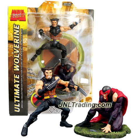 "Diamond Select Year 2003 Marvel Collector Edition 6"" Tall Action Figure - Variant Unmasked ULTIMATE WOLVERINE with Defeated Magneto on Display Base"