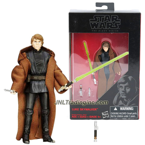 Hasbro Year 2015 Star Wars The Black Series Exclusive 4 Inch Tall Action Figure - LUKE SKYWALKER (B4060) with Green Lightsaber and Lightsaber'S Hilt