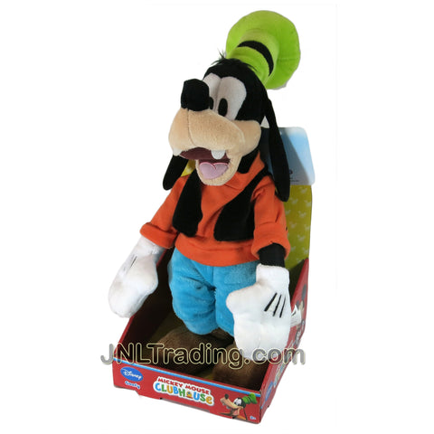 Year 2014 Mickey Mouse Clubhouse Series 16 Inch Tall Plush Figure - GOOFY