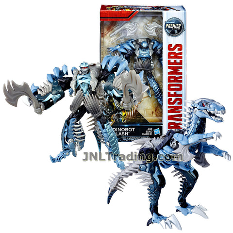 Transformers Year 2016 The Last Knight Movie Premier Edition Series Deluxe Class 5-1/2 Inch Tall Figure - DINOBOT SLASH with 2 Hatches (Beast: Velociraptor)