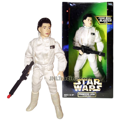 Star Wars Year 1998 The Empire Strikes Back Action Collection Series 12 Inch Tall Fully Poseable Figure - PRINCESS LEIA in Authentically Styled Hoth Gear with Blaster Rifle