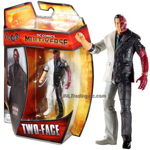 "Mattel Year 2014 DC Comics Multiverse ""Batman Arkham Knight"" Series 4 Inch Tall Action Figure : TWO-FACE"