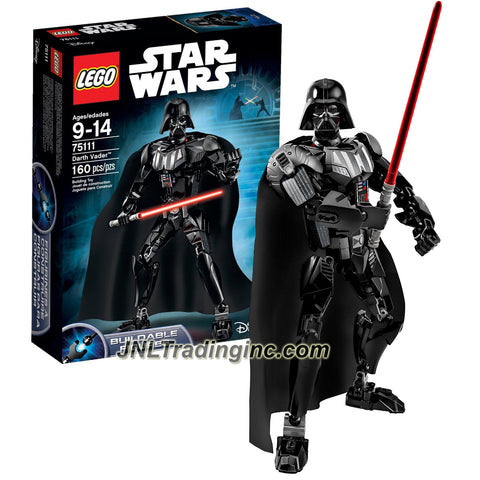 Lego Year 2015 Star Wars Series 11 Inch Tall Figure Set #75111 - DARTH VADER Black Armor Suit, Fabric Cape and Lightsaber (Total Pieces: 160)