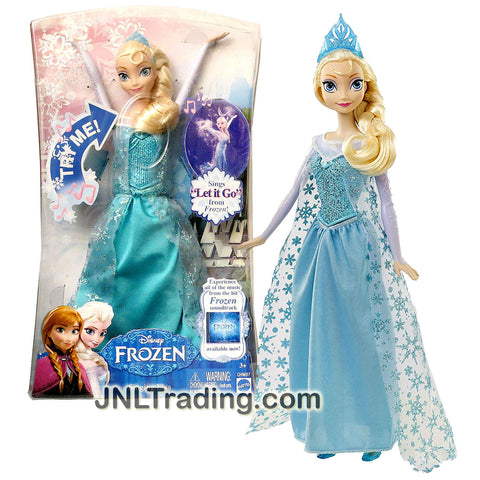 "Mattel Year 2014 Disney Frozen Series 12 Inch Tall  Electronic Singing Doll - ELSA with ""Let It Go"" Song and Tiara"