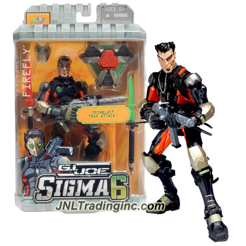 Hasbro Year 2006 G.I. JOE Sigma 6 Classified Series 8 Inch Tall Action Figure - Saboteur Demolitions Expert FIREFLY with Spinblast Trap, FSE Blaster, SB Flame Stick, CE Flame Stick and Mask