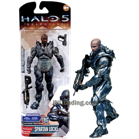 Year 2015 HALO 5 Guardians Series 6 Inch Tall Figure - Spartan LOCKE with Blaster Rifle and Gun