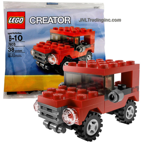 Lego Year 2009 Creator Series Bagged Set # 7803 - Red Jeep (Total Pieces: 38)