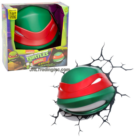 3DLightFX Teenage Mutant Ninja Turtles TMNT Series 3D Deco Night Light - RAPHAEL HEAD