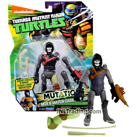 Year 2015 Teenage Mutant Ninja Turtles TMNT Mutations Series 5 Inch Tall Figure - CASEY JONES with Hockey Stick, Baseball Bat and Turtle Left Leg