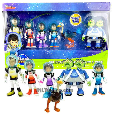 Disney Junior Miles from Tomorrowland Series 6 Pack Action Figure Set CALLISTO FAMILY MISSION with Miles, Loretta, Phoebe, Leo, Merc, Watson and Crick