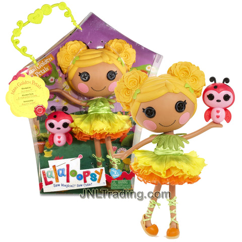Lalaloopsy Sew Magical! Sew Cute! 12 Inch Tall Button Doll - Mari Golden Petals with Pet Ladybug