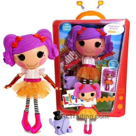 "Lalaloopsy Sew Magical! Sew Cute! Limited Edition 12 Inch Tall Button Doll - Peanut Big Top with Pet ""Elephant"" and Bonus Mini 3 Inch Doll"