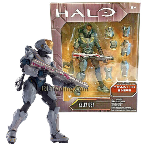 Year 2016 HALO Crawler Snipe Series 6 Inch Tall Figure : Spartan KELLY-087 with Blaster Rifle, Gun and Body Armor