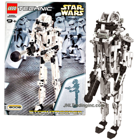 Lego Year 2001 Technic Star Wars # 8008 - STORMTROOPER with Blaster Pistol and 1 Projectile Plus Instruction Manual (Total Pieces : 361)