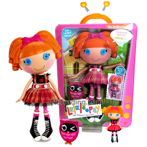 Lalaloopsy Sew Magical! Sew Cute! Limited Edition 12 Inch Tall Button Doll - Bea Spells-a-Lot with Pet Owl and Mini 3 Inch Doll