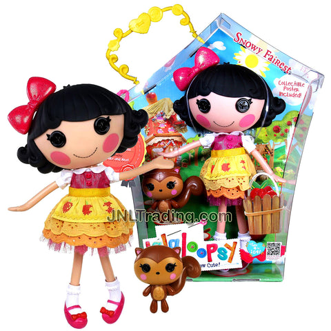 Lalaloopsy Sew Magical! Sew Cute! 12 Inch Tall Button Doll - Snowy Fairest with Pet Squirrel Plus Bonus Poster Inside