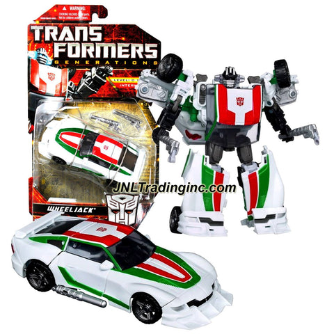 Hasbro Year 2010 Transformers Generations Series Deluxe Class 6 Inch Tall Robot Action Figure - Autobot WHEELJACK with Converting Blaster (Vehicle Mode: Sports Car)