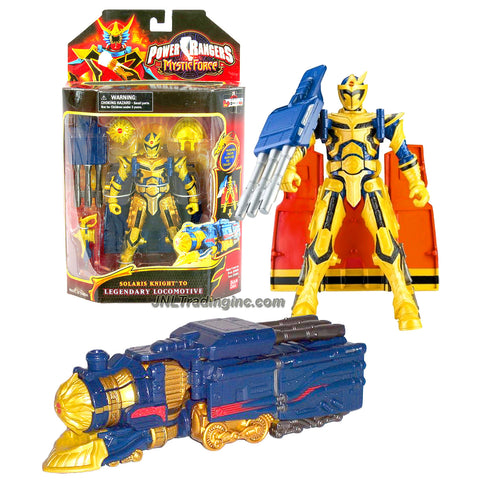 Bandai Year 2006 Power Rangers Mystic Force Series 7 Inch Tall Action Figure - SOLARIS KNIGHT to LEGENDARY LOCOMOTIVE with Blasters and Gun