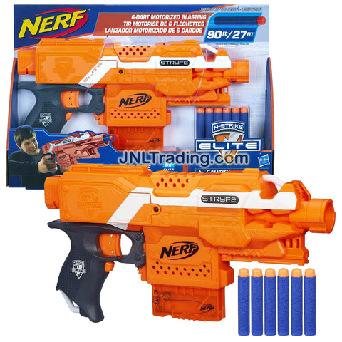 Nerf Year 2014 N-Strike Elite Series Motorized Blaster Set - STRYFE with Quick Reload Clip, Tactical Rail, Acceleration Trigger and 6 Elite Darts