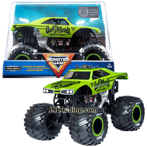 Year 2019 Monster Jam 1:24 Scale True Metal Die Cast Truck Series - GAS MONKEY GARAGE with Working Suspension and Authentic Detailing