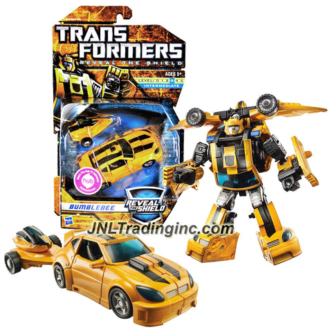 Transformer Year 2010 Reveal The Shield Series Deluxe Class 6 Inch Tall Figure - BUMBLEBEE with Jet Pack that Convert to Wave Crusher and Trailer (Vehicle Mode: Cruiser)