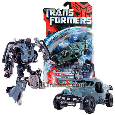 Transformers Year 2007 Movie All Spark Power Series Deluxe Class 6 Inch Tall Figure - Autobot LANDMINE w/ Cryo Shock Rifle (Vehicle Mode: Dune Buggy)
