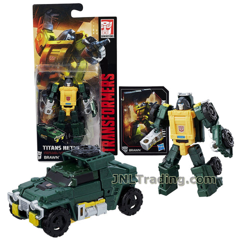 Transformers Year 2016 Titans Return Series Legends Class 4 Inch Tall Robot Figure - BRAWN with Card (Vehicle Mode: All Terrain Vehicle ATV)