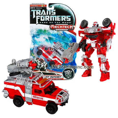 "Hasbro Year 2011 Transformers Movie Series 3 ""Dark of the Moon"" Deluxe Class 6 Inch Tall Robot Action Figure with MechTech Weapons System - SPECIALIST RATCHET with Hand Blaster that Converts to Double-Barreled Cannon (Vehicle Mode: Hummer H2)"